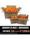 Caise Combinée d'oranges de table et mandarines